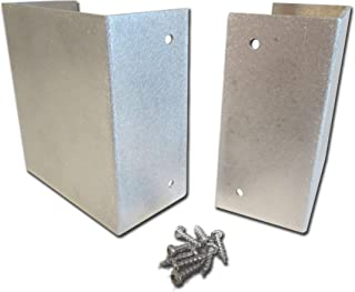 4x4 Mailbox Post Protector Guard (Sanded Finish) - Wood Post Trimmer Shield
