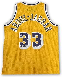 Kareem Abdul Jabbar Hand Signed Autograph Jersey Home Yellow Size Large  Beckett bddbcad92