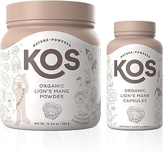 KOS Organic Lion's Mane Powder + Organic Lion's Mane Capsules Bundle