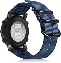Fintie for Suunto Core Watch Band, Premium Woven Nylon Replacement Sport Strap with Metal Buckle for Suunto Core Smart Watch, Navy