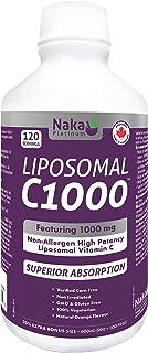 Naka Platinum LIPOSOMAL C1000 Non-Allergen High Potency Vitamin C (Sodium Ascorbate) 1000 mg per 5ml Teaspoon - 600ml = 12...