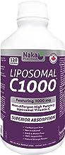 Naka Platinum LIPOSOMAL C1000 Non-Allergen High Potency Vitamin C (Sodium Ascorbate) 1000 mg per 5ml Teaspoon - 600ml = 120servings