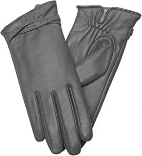 Vislivin Womens Leather Gloves Touch Screen Winter Glove Warm Driving Gloves