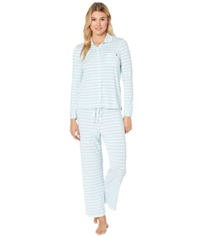 Vineyard Vines Button Front Lounge Set (Breezy Blue) Women