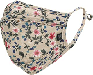 ililily Floral Patterned Cotton Face Cover Reusable Filter Pocket with Nose Wire