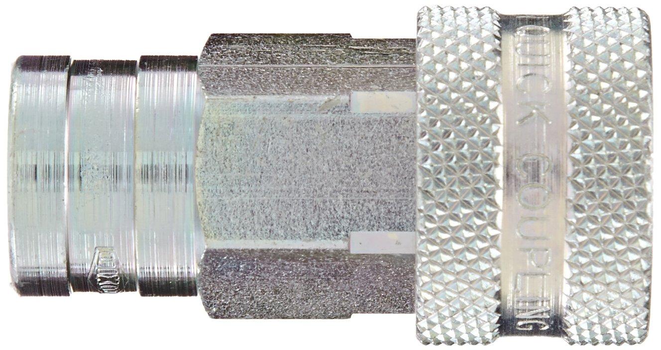 Dixon 2KF2 Steel ISO-A Interchange Hydraulic Fitting 1//4 Coupling x 1//4-18 NPTF Female Thread 1//4 Coupling x 1//4-18 NPTF Female Thread Dixon Valve /& Coupling Coupler