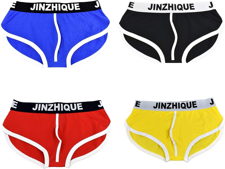 Men's Briefs Underwear Ultra Soft Spandex Sport Yoga Shorts Breathable Short Leg Underpants