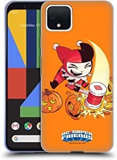 Official Super Friends DC Comics Harley Quinn Halloween Toddlers Holidays Soft Gel Case Compatible for Google Pixel 4