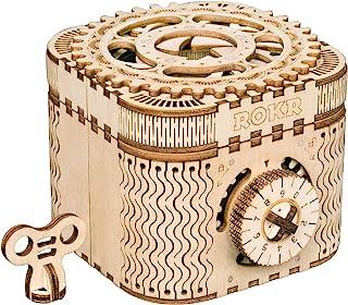 Robotime 3D立体パズル DIY組立 ギア 宝箱 パーペチュアルカレンダー クラフト 123PCS 子供 おもちゃ オモチャ 知育玩具 男の子 女の子 大人 入園祝い 新年 ギフト 誕生日 クリスマス プレゼント 贈り物(パスワードボックス)