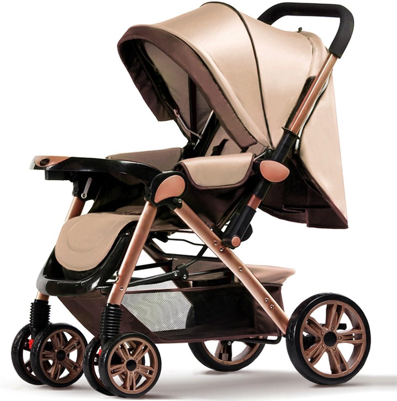 Baby Trolley Kind Spaziergnger Ultraportable knnen sitzen und legen Sie unten falten vier Runden Hochlandschaft Sommer Baby Kind Sugling Baby Wagen Faltbarer Baby Kinderwagen für Kinder