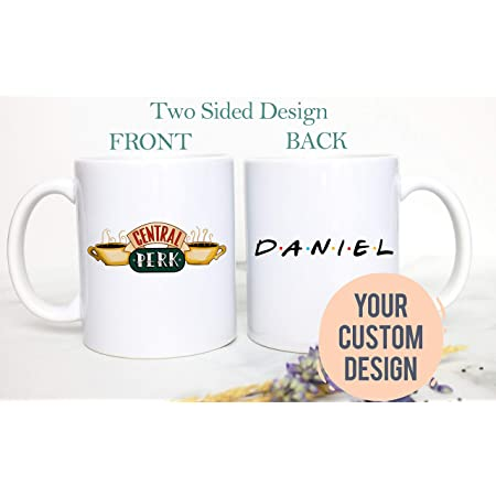 Personalized Custom Name Free Central Perk Coffee Mug Friends Movie Lover
