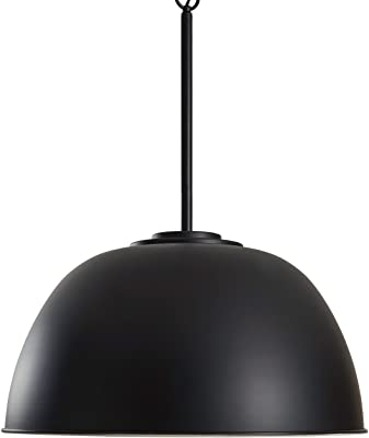 "Amazon Brand – Stone & Beam Vintage Large Format Pendant Light with Bulb, 26""H, Black"