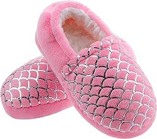 دمپایی دخترانه MIXIN برای کودکان ضد لغزش حافظه فوم دمپایی w/کفش لاستیکی سخت لاک زرق و برق دار برای اتاق خواب در فضای باز در فضای باز (کودک نوپا/کودک کوچک/بزرگ)