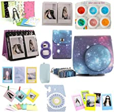 CAIUL Compatible Fujifilm Instax Mini 9 Camera Bundle with Film Album, Filters and Other Accessories for Fujifilm Instax Mini 8 8+ 9 Camera (Galaxy, 12 Items)