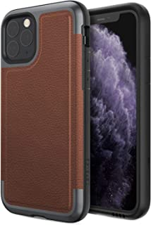 Defense Prime, iPhone 11 Pro Case - Military Grade Drop Tested, Anodized Aluminum Frame, Luxurious Back Panel, and Polycarbonate Protective Case for Apple iPhone 11 Pro, (Brown)