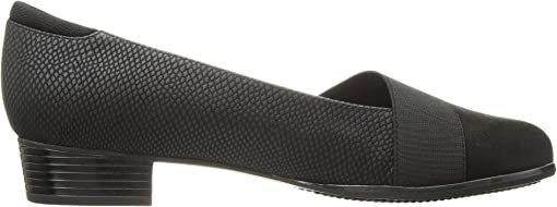 Black Casual Leather/Snake