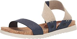 Yellow Box Women's Meera Sandal, Navy, 6 M US