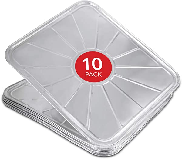 Disposable Foil Oven Liners 10 Pack Oven Liners For Bottom Of Electric Oven And Gas Oven Reusable Oven Drip Pan Tray For Cooking And Baking 18 5 X15 5
