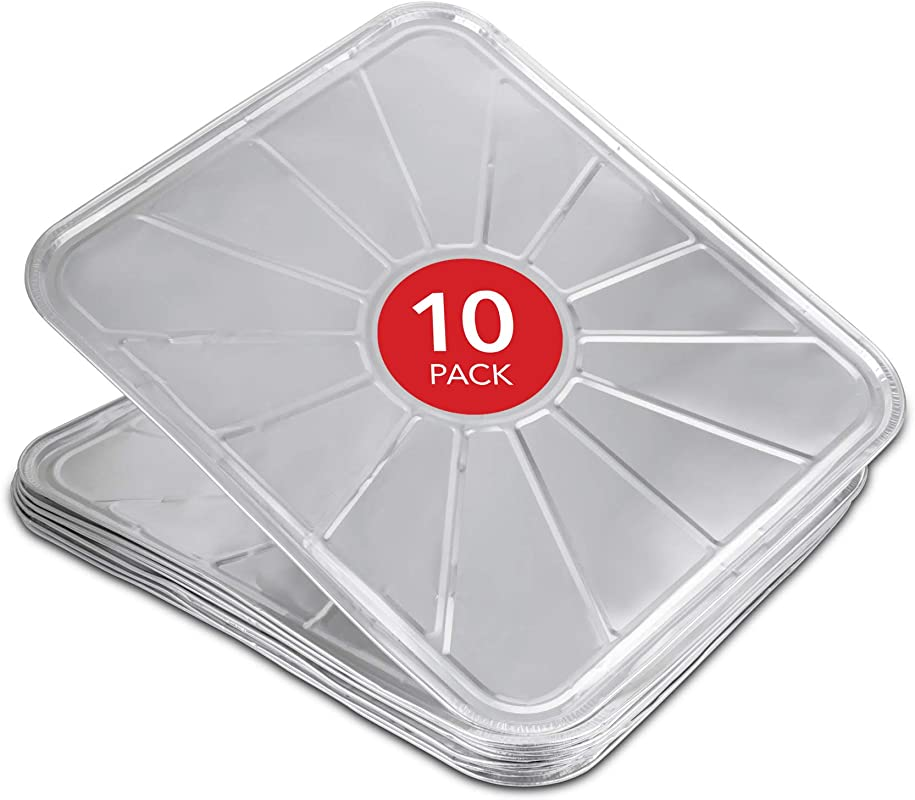 Stock Your Home Disposable Foil Oven Liners 10 Pack Oven Liners For Bottom Of Electric Oven And Gas Oven Reusable Oven Drip Pan Tray For Cooking And Baking 18 5 X15 5