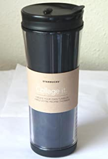 STARBUCKS Collage it - Create Your Own customizable TUMBLER Coffee/Tea commuting Mug FLASK/DRINKWARE WITH SEALING LID
