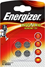 Energizer LR44/A76 Alkaline Button Battery, 4-Pack