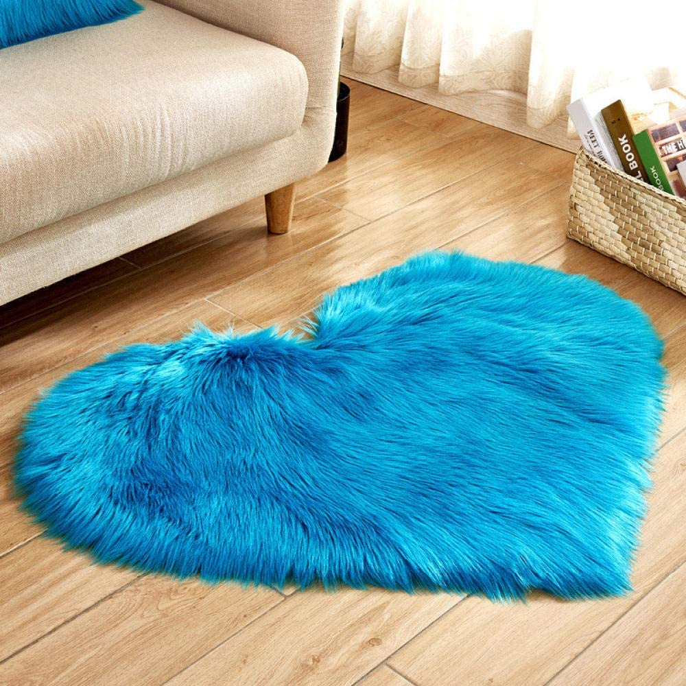 Non Slip Floor Mat Plush Soft Shaped Heart Rug Bombing free shipping Fur Superlatite Bedroom Faux