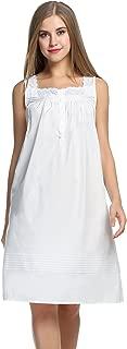 Camisa de dormir de algodón Comfort para mujer Ropa de dormir sin mangas Camisones S-XXL