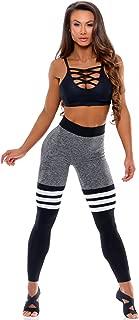 Bombshell Sportswear - High-Waist Thigh-High - Grey/Black
