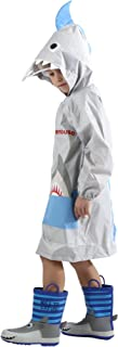 HÖTER Kid's Rain Jacket/Raincoat 3D Shark Lightweight Rainwear for Boy for Girl