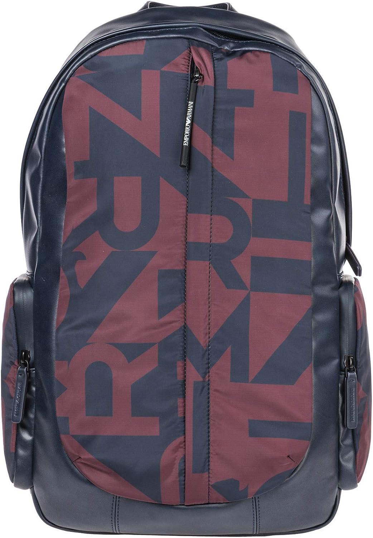 Emporio Armani men backpack burgundy blueee