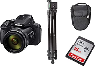 Nikon Coolpix P900 Digital Camera, Black + Tripod + DSLR Bag + 16GB Ultra SDHC Memory Card