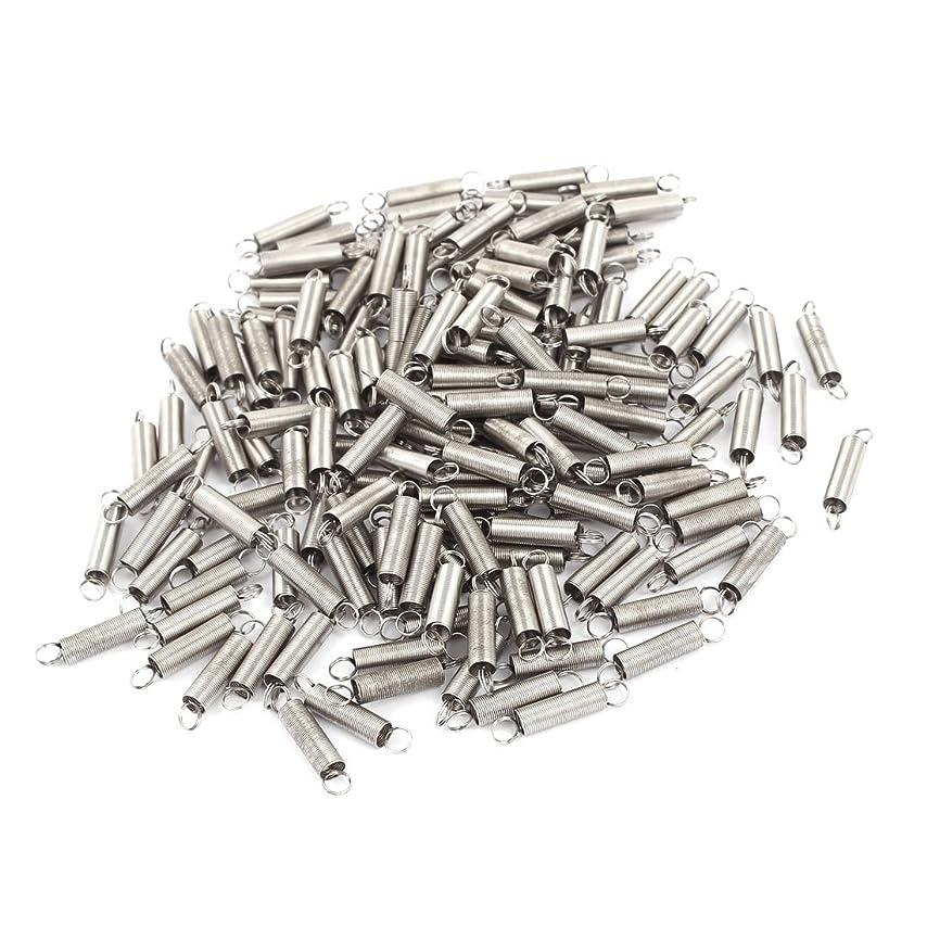まだ修理可能ちょうつがいuxcell 引張りばね テンションスプリング ステンレス鋼 デュアル?フック グレー 12.5mm x 4mm x 0.25mm 160個入り