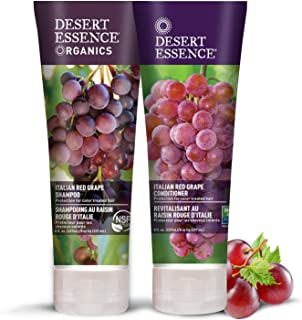 Desert Essence Italian Red Grape Shampoo & Conditioner Bundle - 8 Fl Ounce - Protection For Color Treated Hair - Antioxida...