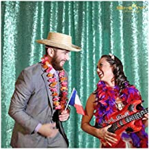 Mint Green Backdrop for Pictures Happy Birthday Backdrop Prince Sequin Backdrop Curtain Backdrops for Photographers (7FTx7FT, Mint Green)
