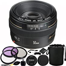 Canon EF 50mm f/1.4 USM Lens Bundle with Manufacturer Accessories & Accessory Kit for EOS 7D Mark II, 7D, 80D, 70D, 60D, 5...