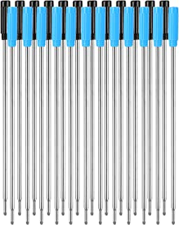 Jovitec 24 Pieces Replaceable Ballpoint Pen Refills Smooth Writing 4.5 Inch (11.6 cm) and 1 mm Medium Tip (Black and Blue)