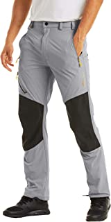 MAGCOMSEN Men's Hiking Pants 4 Zip Pockets Reinforced Knees, Sun Protection, Water Resistant, Lightweight Work Fishing Pants