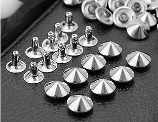 10pcs 8//12//20mm Head Dome Mushroom Screw back Leather craft Spot Spike Tack Leathercraft Spike Screw DP090 Gold, 8mm
