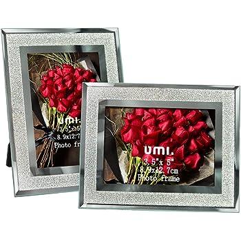 [Amazonブランド] Umi.(ウミ) フォトフレーム L判 サイズ 写真立て フォトスタンド 卓上用 2枚セット