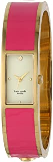 kate spade new york Women's 1YRU0047 Carousel Gold-Plated and Enamel Bangle Watch