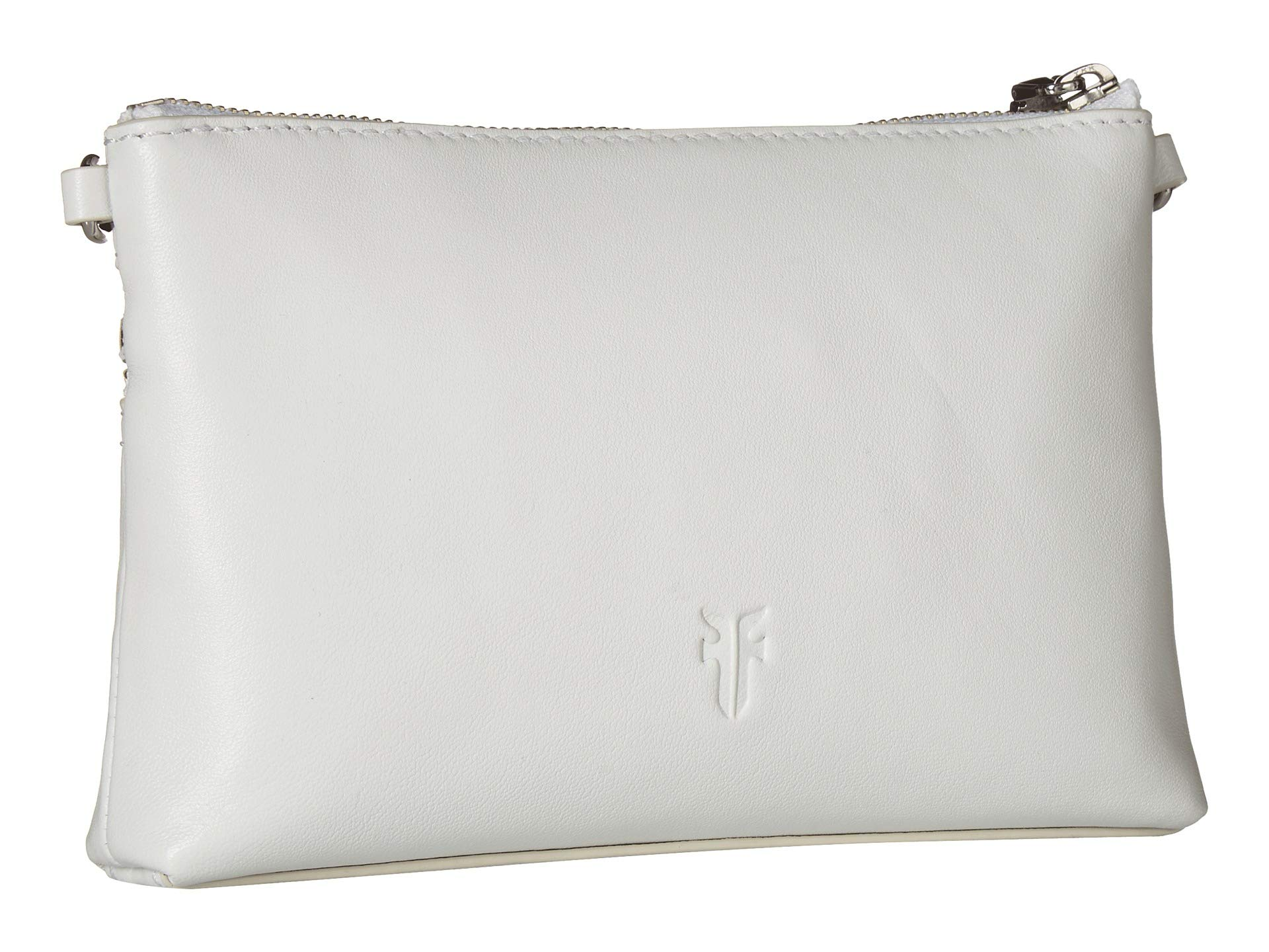 White Crossbody Zip Lambskin Soft Lena Wristlet Frye 5aIqEw5