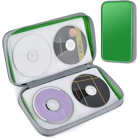 CD Estuche, Tinksky Porta CD para 80 CDs/DVDs Almacenamiento de CD para CD/DVD Protectora