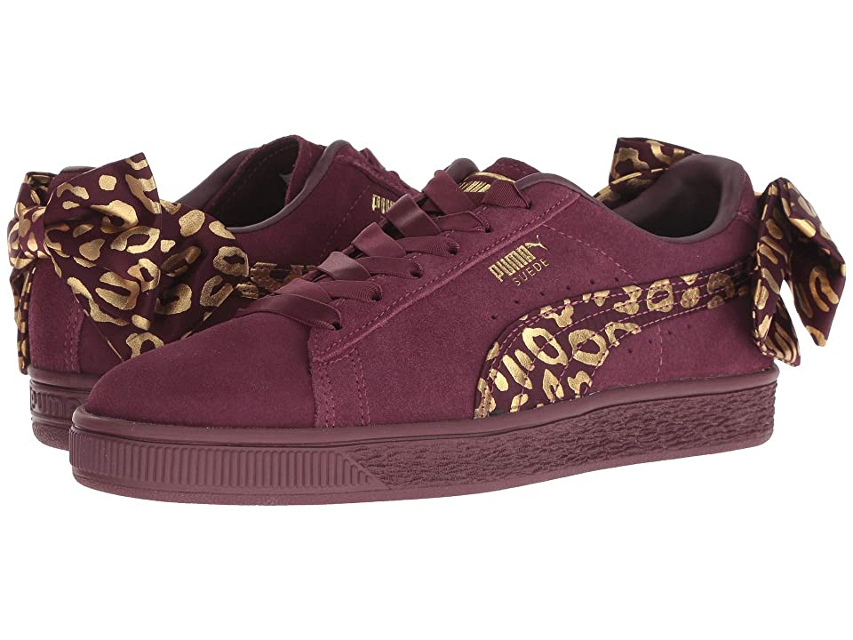 Puma Kids Suede Bow Athluxe Jr (Big Kid) (Fig/Puma Team Gold) Girls Shoes