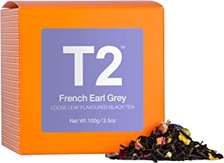 T2 Tea - French Earl Grey Black Tea, Loose Leaf Black Tea in a Box, 100g (3.5oz)