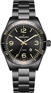 TORNADO Men's Multi Function Black Dial Watch - T20004-BBBB