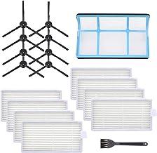 2 Mop Cloth FFsign Replacement Parts for ILIFE V3 V3s V5 V5s V5s Pro Robotic Vacuum Cleaner 6 Side Brush 6 Hepa Filter 1 Primary Filter Accessories Kit
