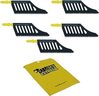 5 x SabreCut JSSC2074_5 T Shank HCS Wood Flush Cutting DT2074 Jigsaw Blades For Dewalt, Bosch and many others