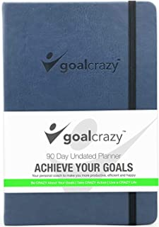 $24 » Goal Crazy Undated Planner - 90 Day Guided Journal, 2019 2020 Weekly Organization, Productivity Habit Tracker, Inspiration...