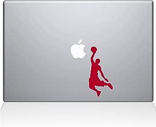 """The Decal Guru Slam Dunk MacBook Decal Vinyl Sticker  - 12"""" Macbook - Red (1173-MAC-12M-DR)"""