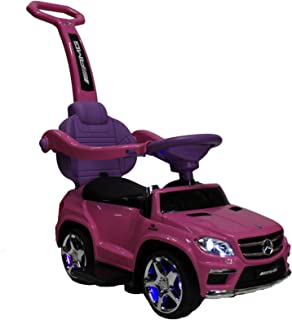 ZForce 4-in-1 Mercedes Stroller Ride-On Toy Push Car - Pink
